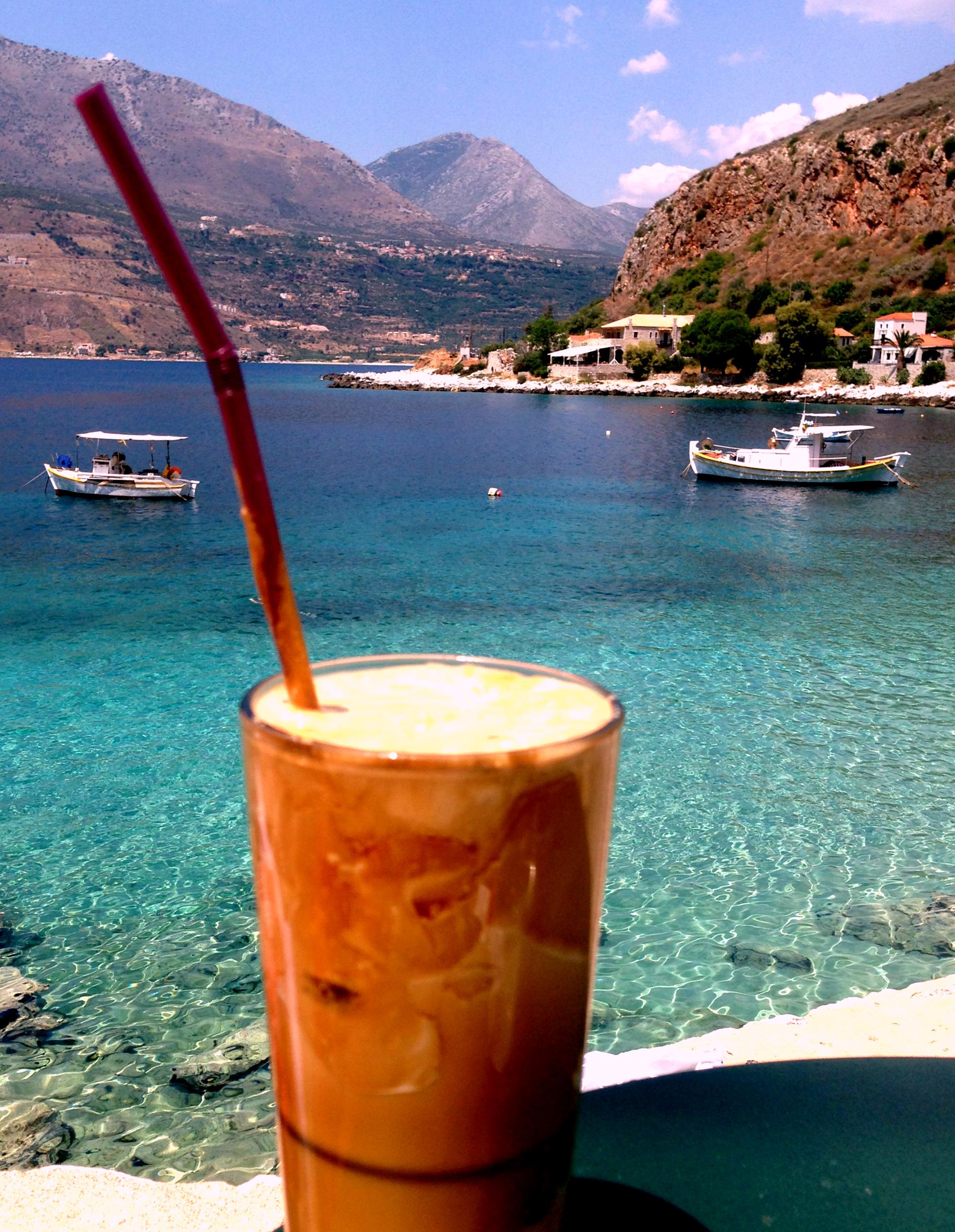 Caffe Frappe at Limeni