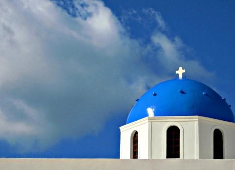That Greek blue!