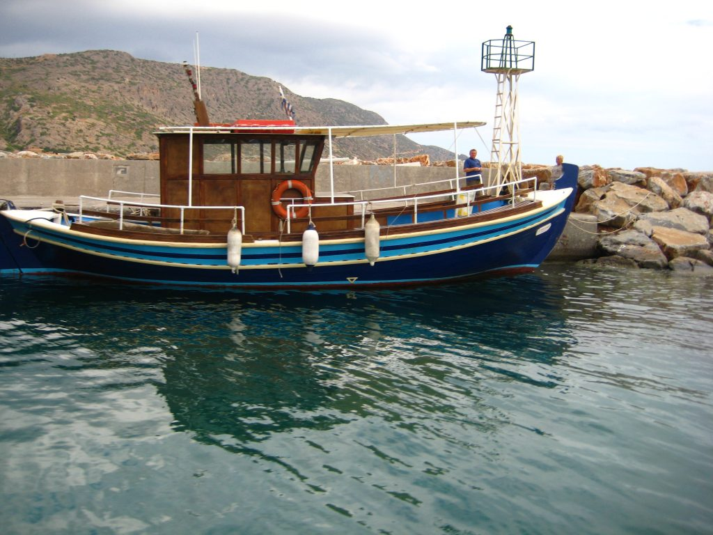Fishing boat to Spinalonga copy
